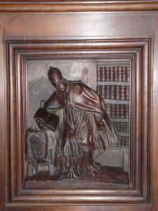 Panneau représentant Grégoire le Grand, retable de l'église Saint-Étienne-de-la-Cité, Périgueux, Dordogne, France (c) Père Igor, CC 3.0 Unported