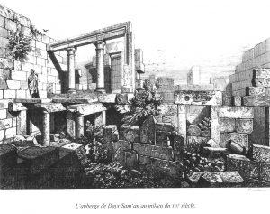 """""""Cette auberge a été construite au mois d'Hyperbérétaios, le 15, la 3e indiction, en l'an 528. Santé à ses propriétaires, et profit !"""" (traduction Denis Feissel) Auberge située dans le village de Telanissos. Celui-ci s'est développé à proximité du sanctuaire de saint Syméon stylite l'Ancien, grand lieu de pélerinage. La construction de l'auberge (pantodocheion) est datée du 15 octobre 479."""
