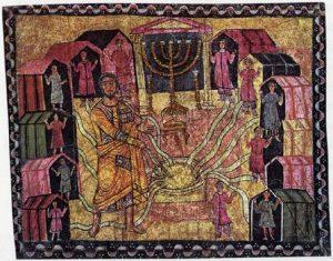 Moïse au puits de Beér (Synagogue de Doura-Europos)